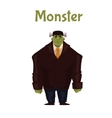 Man dressed in monster costume for Halloween vector image vector image