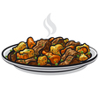 beef stew dish vector image vector image