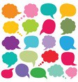 Speech and thought bubbles set vector