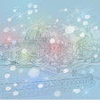 winter Christmas sketch of a old town cityscape vector image