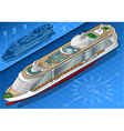 Isometric Cruise Ship in Front View vector image