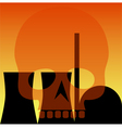atomic power station vector image