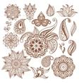 Henna tattoo Mehndi Abstract floral vector image