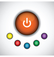 orange on button vector image