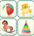 Baby toys icons vector image