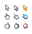 Cursors set Arrow hand vector image