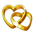 Detailed Icon Heart Rings isolated on white vector image