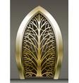 fabulous golden gate vector image