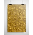 Gold sequin poster on the wall Eps 10 vector image
