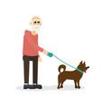 gray-haired bearded elderly gentleman old man vector image