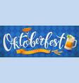 oktoberfest beer party template vector image