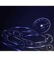 stylized glowing car vector image