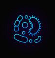 viruses blue line icon on dark background vector image