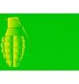 Grunge Grenade vector image
