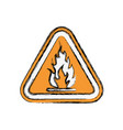 flammable advert sign vector image