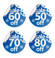 set christmas sale stickers vector image