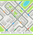 abstract city plan with traffic on strrets vector image