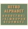 Retro font alphabet vector image vector image