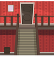 Retro Indoor Red vector image