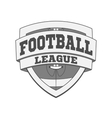 Design of white Football Label vector image