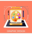 Web Design Graphic Tablet and Tool vector image