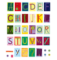 embroidered letters textile vector image vector image