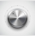 Chrome Volume dial vector image