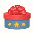 Colorful 3d gift box bow and ribbons vector image