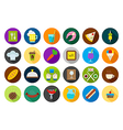 Diner round icons set vector image
