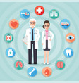 doctor and medical and hospital icons vector image