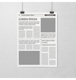 Hanging Newspaper Concept vector image