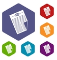 Newspaper with the headline Job icons set vector image