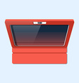 Tablet in case flat style Top view vector image