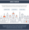 website banner and landing page world tourism vector image