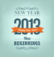 New Year 2013 Design vector image vector image