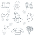 Doodle of object christmas hand draw vector image