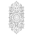 Turkish style digital floral drawing vector image vector image