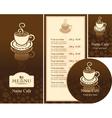 coffee reflection vector image vector image