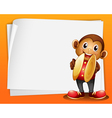 A monkey with cymbals and the blank space vector image vector image
