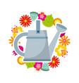 Beautiful garden flat icons vector image