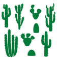 cactus collection vector image vector image
