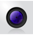 Camera photo lens with shutter vector image