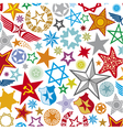 seamless stars pattern star background vector image vector image
