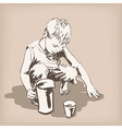 Child playing vector image vector image