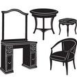 retro furniture vector image vector image