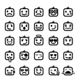 set of 25 smiley faces vector image