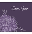 Vintage delicate invitation with flower vector image