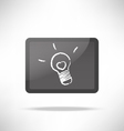 chalk line icon idea light bulb with heart vector image