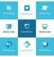 Dental Clinic Teeth Logo vector image vector image