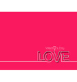 Valentines day text design element vector image vector image